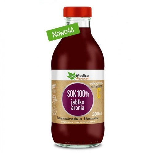 EkaMedica Sok jabłko aronia 100% 300 ml