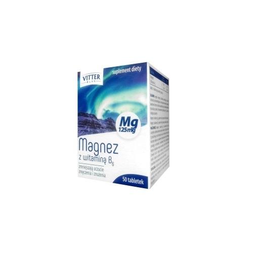 Magnez z witaminą B6 VITTER BLUE tabl. 50t