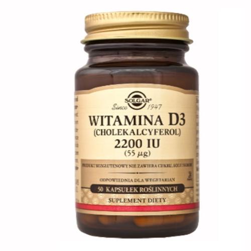 SOLGAR Witamina D3 2200 IU 50kaps