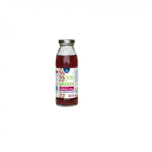 Sok z brzozy z dziką różą b/cukru 300ml