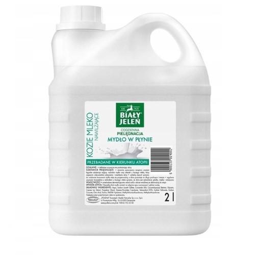 BIAŁY JELEŃ Mydło w pł.kozie mleko zapas2l