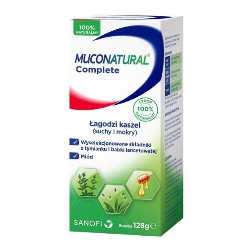 Muconatural Complete syrop żel. 128 g | Apteka internetowa, antyperspirant, avent, bioderma, bioliq, canpol, cera trądzikowa preparaty, dermokosmetyki, geriavit, grzybica leki bez recepty, himalaya, kreon, leki bez recepty, leki na grypę, leki na przeziębienie, leki na uspokojenie, mascara med., maxigra go, maxon, mensil, mugga, mustela, odchudzanie leki, odporność, pirolam, tabletki na ból gardła, test ciążowy, tran mollers, vichy, witamina d, wszy preparaty, zapalenie stawów, zestawy kosmetyków, ziaja
