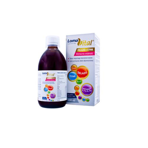 Loma Vital żelazo+cynk płyn 500 ml | Apteka internetowa, antyperspirant, avent, bioderma, bioliq, canpol, cera trądzikowa preparaty, dermokosmetyki, geriavit, grzybica leki bez recepty, himalaya, kreon, leki bez recepty, leki na grypę, leki na przeziębienie, leki na uspokojenie, mascara med., maxigra go, maxon, mensil, mugga, mustela, odchudzanie leki, odporność, pirolam, tabletki na ból gardła, test ciążowy, tran mollers, vichy, witamina d, wszy preparaty, zapalenie stawów, zestawy kosmetyków, ziaja