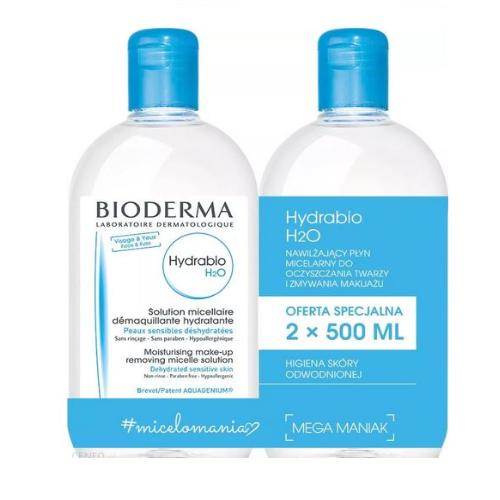 BIODERMA HYDRABIO H2OPłyn micelarny2x500ml