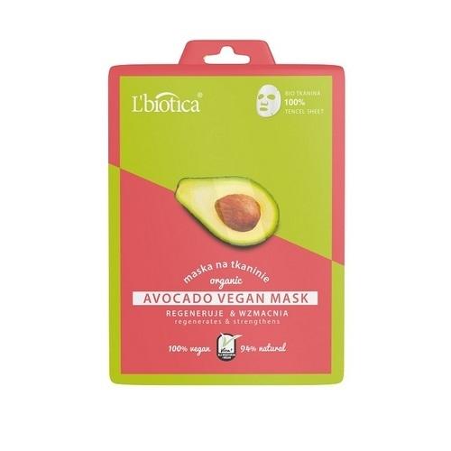 L'biotica Maska Vegan Avocado 1 szt.