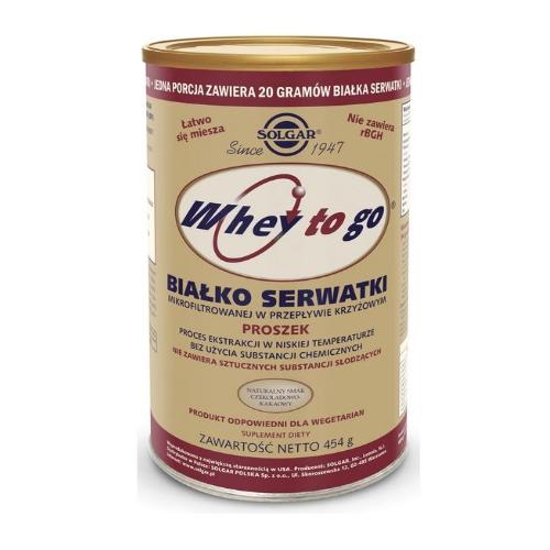 SOLGAR Whey to go Białko Serwatki 454 g