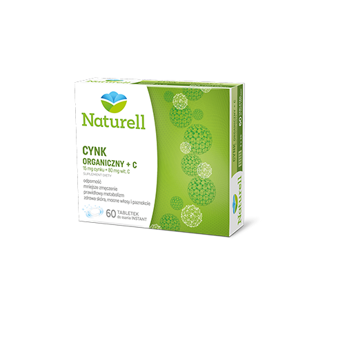 NATURELL Cynk organiczny+C 60 tab d/ssan.