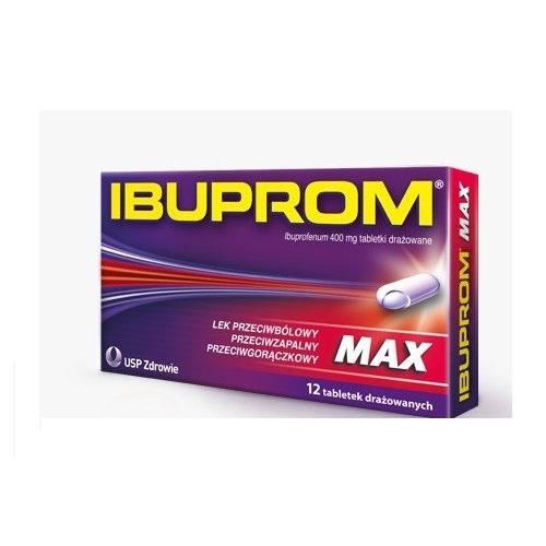 Ibuprom MAX tabl.drażow. 0,4g 12 tabl.