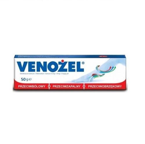 Venożel żel (0,012g+0,01g+5mg)/g 50 g