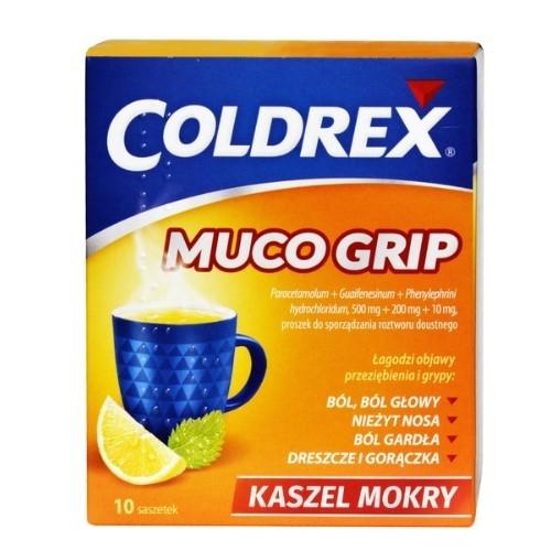Coldrex Muco Grip pr.dop.rozt.doust.10sasz | Apteka internetowa, antyperspirant, avent, bioderma, bioliq, canpol, cera trądzikowa preparaty, dermokosmetyki, geriavit, grzybica leki bez recepty, himalaya, kreon, leki bez recepty, leki na grypę, leki na przeziębienie, leki na uspokojenie, mascara med., maxigra go, maxon, mensil, mugga, mustela, odchudzanie leki, odporność, pirolam, tabletki na ból gardła, test ciążowy, tran mollers, vichy, witamina d, wszy preparaty, zapalenie stawów, zestawy kosmetyków, ziaja