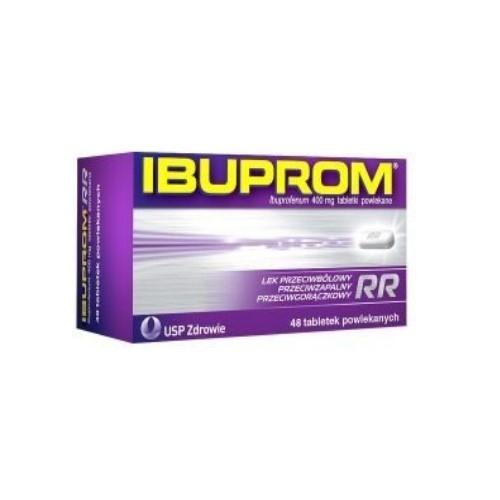 Ibuprom RR tabl.powl. 0,4 g 48 tabl. | Apteka internetowa, antyperspirant, avent, bioderma, bioliq, canpol, cera trądzikowa preparaty, dermokosmetyki, geriavit, grzybica leki bez recepty, himalaya, kreon, leki bez recepty, leki na grypę, leki na przeziębienie, leki na uspokojenie, mascara med., maxigra go, maxon, mensil, mugga, mustela, odchudzanie leki, odporność, pirolam, tabletki na ból gardła, test ciążowy, tran mollers, vichy, witamina d, wszy preparaty, zapalenie stawów, zestawy kosmetyków, ziaja