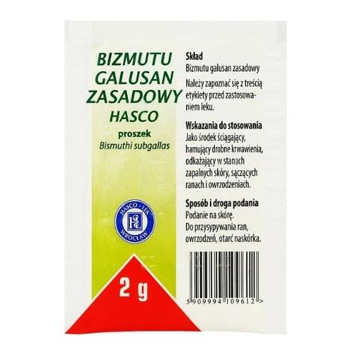 Dermatol Bizmutu galusan zasadowy Hasco 2g