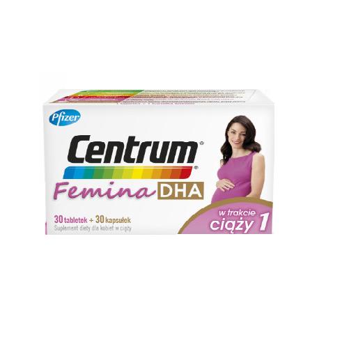 Centrum Femina DHA w ciąży 30tab.+30kap.