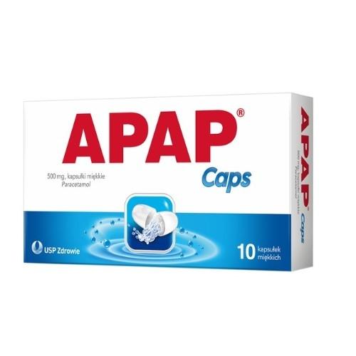 APAP Caps kaps.miękkie 0,5 g 10 kaps. | Apteka internetowa, antyperspirant, avent, bioderma, bioliq, canpol, cera trądzikowa preparaty, dermokosmetyki, geriavit, grzybica leki bez recepty, himalaya, kreon, leki bez recepty, leki na grypę, leki na przeziębienie, leki na uspokojenie, mascara med., maxigra go, maxon, mensil, mugga, mustela, odchudzanie leki, odporność, pirolam, tabletki na ból gardła, test ciążowy, tran mollers, vichy, witamina d, wszy preparaty, zapalenie stawów, zestawy kosmetyków, ziaja