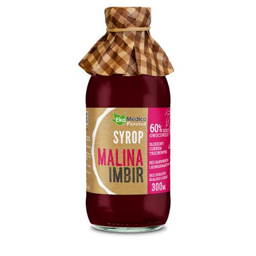EkaMedica Syrop Malina, Imbir 0.3 l