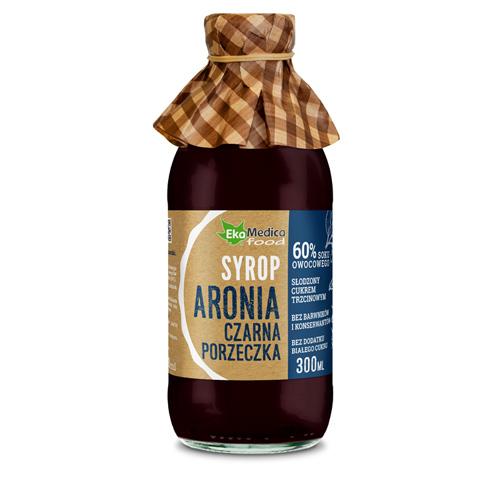 EkaMedica Syrop Aronia Cz. Porzeczka 0.3 l