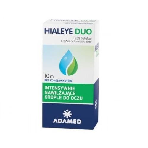 HIALEYE DUO krop.do oczu 10 ml | Apteka internetowa, antyperspirant, avent, bioderma, bioliq, canpol, cera trądzikowa preparaty, dermokosmetyki, geriavit, grzybica leki bez recepty, himalaya, kreon, leki bez recepty, leki na grypę, leki na przeziębienie, leki na uspokojenie, mascara med., maxigra go, maxon, mensil, mugga, mustela, odchudzanie leki, odporność, pirolam, tabletki na ból gardła, test ciążowy, tran mollers, vichy, witamina d, wszy preparaty, zapalenie stawów, zestawy kosmetyków, ziaja