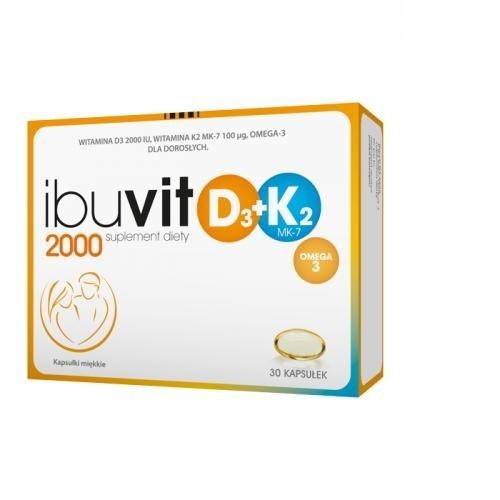 Ibuvit D3 2000 + K2 MK-7 Omega 3 30 kaps. | Apteka internetowa, antyperspirant, avent, bioderma, bioliq, canpol, cera trądzikowa preparaty, dermokosmetyki, geriavit, grzybica leki bez recepty, himalaya, kreon, leki bez recepty, leki na grypę, leki na przeziębienie, leki na uspokojenie, mascara med., maxigra go, maxon, mensil, mugga, mustela, odchudzanie leki, odporność, pirolam, tabletki na ból gardła, test ciążowy, tran mollers, vichy, witamina d, wszy preparaty, zapalenie stawów, zestawy kosmetyków, ziaja