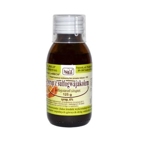 Syrop z sulfogwajakolem 125 g PROLAB | Apteka internetowa, antyperspirant, avent, bioderma, bioliq, canpol, cera trądzikowa preparaty, dermokosmetyki, geriavit, grzybica leki bez recepty, himalaya, kreon, leki bez recepty, leki na grypę, leki na przeziębienie, leki na uspokojenie, mascara med., maxigra go, maxon, mensil, mugga, mustela, odchudzanie leki, odporność, pirolam, tabletki na ból gardła, test ciążowy, tran mollers, vichy, witamina d, wszy preparaty, zapalenie stawów, zestawy kosmetyków, ziaja