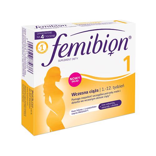 Femibion 1 Wczesna ciąża tabl.powl.28tabl.