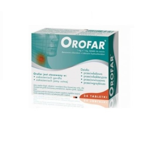 Orofar tabl.dossania 1mg+1mg 24tabl.