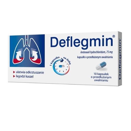 Deflegmin retard kaps. 0.075 g 10 kaps. | Apteka internetowa, antyperspirant, avent, bioderma, bioliq, canpol, cera trądzikowa preparaty, dermokosmetyki, geriavit, grzybica leki bez recepty, himalaya, kreon, leki bez recepty, leki na grypę, leki na przeziębienie, leki na uspokojenie, mascara med., maxigra go, maxon, mensil, mugga, mustela, odchudzanie leki, odporność, pirolam, tabletki na ból gardła, test ciążowy, tran mollers, vichy, witamina d, wszy preparaty, zapalenie stawów, zestawy kosmetyków, ziaja