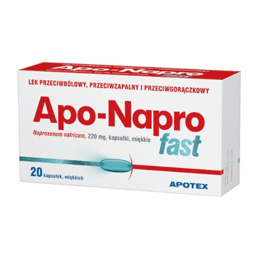 Apo-Napro Fast kaps.miękkie 0,22g 20kaps.