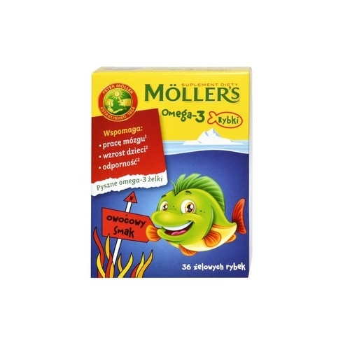 Mollers Omega-3 Rybki Owocowe żelki 36 szt