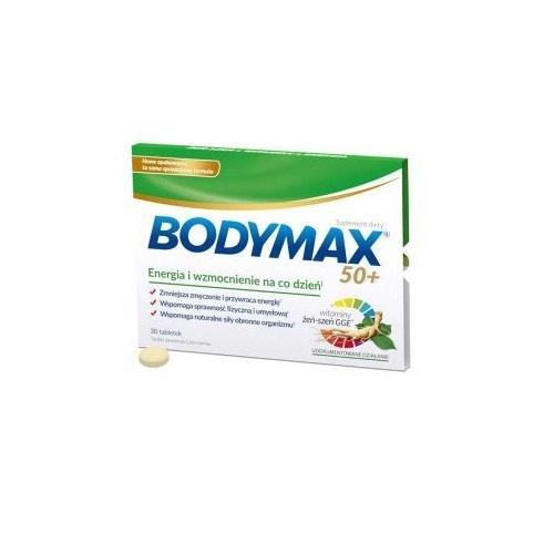 Bodymax 50+ tabl. 30 tabl.(30 z 600) | Apteka internetowa, antyperspirant, avent, bioderma, bioliq, canpol, cera trądzikowa preparaty, dermokosmetyki, geriavit, grzybica leki bez recepty, himalaya, kreon, leki bez recepty, leki na grypę, leki na przeziębienie, leki na uspokojenie, mascara med., maxigra go, maxon, mensil, mugga, mustela, odchudzanie leki, odporność, pirolam, tabletki na ból gardła, test ciążowy, tran mollers, vichy, witamina d, wszy preparaty, zapalenie stawów, zestawy kosmetyków, ziaja