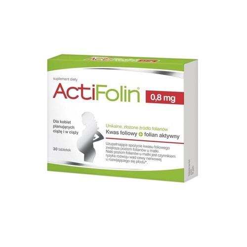 ActiFolin 0,8 mg tabl. 30 tabl. | Apteka internetowa, antyperspirant, avent, bioderma, bioliq, canpol, cera trądzikowa preparaty, dermokosmetyki, geriavit, grzybica leki bez recepty, himalaya, kreon, leki bez recepty, leki na grypę, leki na przeziębienie, leki na uspokojenie, mascara med., maxigra go, maxon, mensil, mugga, mustela, odchudzanie leki, odporność, pirolam, tabletki na ból gardła, test ciążowy, tran mollers, vichy, witamina d, wszy preparaty, zapalenie stawów, zestawy kosmetyków, ziaja