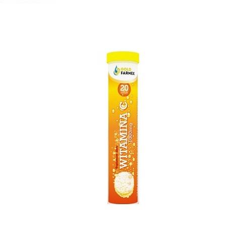 Witamina C 1000 mg tab.mus1g 20tabl.GoldF.