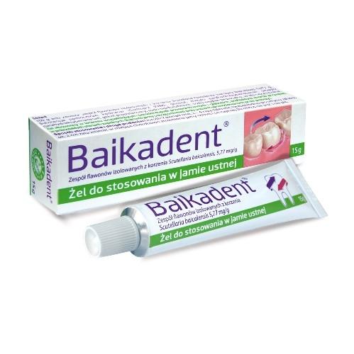 Baikadent żel do jam.ust. 5,77 mg/1 g 15 g | Apteka internetowa, antyperspirant, avent, bioderma, bioliq, canpol, cera trądzikowa preparaty, dermokosmetyki, geriavit, grzybica leki bez recepty, himalaya, kreon, leki bez recepty, leki na grypę, leki na przeziębienie, leki na uspokojenie, mascara med., maxigra go, maxon, mensil, mugga, mustela, odchudzanie leki, odporność, pirolam, tabletki na ból gardła, test ciążowy, tran mollers, vichy, witamina d, wszy preparaty, zapalenie stawów, zestawy kosmetyków, ziaja
