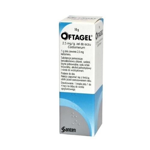 Oftagel żel do oczu 2,5 mg/1g 10 g