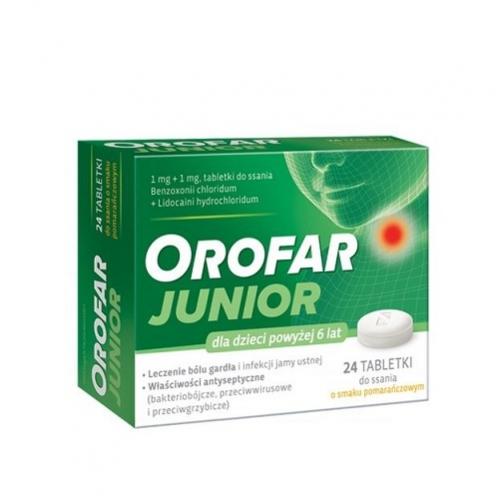 Orofar Junior tabl.d/ssania1mg+1mg 24tabl.