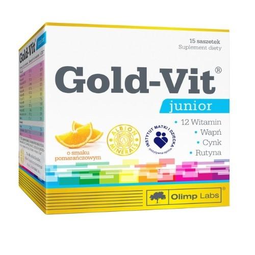 Olimp Gold-Vit Junior smak pomarań.15szasz