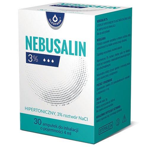 Nebusalin 3% rozt.do inh. 30 amp.a 4ml | Apteka internetowa, antyperspirant, avent, bioderma, bioliq, canpol, cera trądzikowa preparaty, dermokosmetyki, geriavit, grzybica leki bez recepty, himalaya, kreon, leki bez recepty, leki na grypę, leki na przeziębienie, leki na uspokojenie, mascara med., maxigra go, maxon, mensil, mugga, mustela, odchudzanie leki, odporność, pirolam, tabletki na ból gardła, test ciążowy, tran mollers, vichy, witamina d, wszy preparaty, zapalenie stawów, zestawy kosmetyków, ziaja