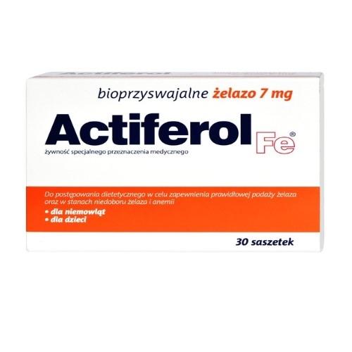 ActiFerol Fe 7 mg prosz.dorozp. 30sasz. | Apteka internetowa, antyperspirant, avent, bioderma, bioliq, canpol, cera trądzikowa preparaty, dermokosmetyki, geriavit, grzybica leki bez recepty, himalaya, kreon, leki bez recepty, leki na grypę, leki na przeziębienie, leki na uspokojenie, mascara med., maxigra go, maxon, mensil, mugga, mustela, odchudzanie leki, odporność, pirolam, tabletki na ból gardła, test ciążowy, tran mollers, vichy, witamina d, wszy preparaty, zapalenie stawów, zestawy kosmetyków, ziaja