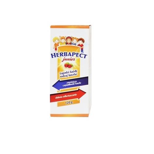 Herbapect Junior syrop malinowy 120 g | Apteka internetowa, antyperspirant, avent, bioderma, bioliq, canpol, cera trądzikowa preparaty, dermokosmetyki, geriavit, grzybica leki bez recepty, himalaya, kreon, leki bez recepty, leki na grypę, leki na przeziębienie, leki na uspokojenie, mascara med., maxigra go, maxon, mensil, mugga, mustela, odchudzanie leki, odporność, pirolam, tabletki na ból gardła, test ciążowy, tran mollers, vichy, witamina d, wszy preparaty, zapalenie stawów, zestawy kosmetyków, ziaja