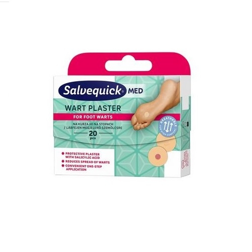 Plaster Salvequick Wart na kurzajki 1op.20