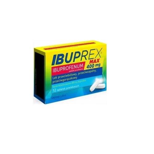 Ibuprex Max tabl.powl. 0,4 g 12 tabl. | Apteka internetowa, antyperspirant, avent, bioderma, bioliq, canpol, cera trądzikowa preparaty, dermokosmetyki, geriavit, grzybica leki bez recepty, himalaya, kreon, leki bez recepty, leki na grypę, leki na przeziębienie, leki na uspokojenie, mascara med., maxigra go, maxon, mensil, mugga, mustela, odchudzanie leki, odporność, pirolam, tabletki na ból gardła, test ciążowy, tran mollers, vichy, witamina d, wszy preparaty, zapalenie stawów, zestawy kosmetyków, ziaja