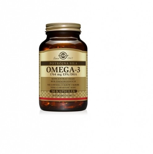 SOLGAR Omega 3 potrójna siła 1764 mg 50kap | Apteka internetowa, antyperspirant, avent, bioderma, bioliq, canpol, cera trądzikowa preparaty, dermokosmetyki, geriavit, grzybica leki bez recepty, himalaya, kreon, leki bez recepty, leki na grypę, leki na przeziębienie, leki na uspokojenie, mascara med., maxigra go, maxon, mensil, mugga, mustela, odchudzanie leki, odporność, pirolam, tabletki na ból gardła, test ciążowy, tran mollers, vichy, witamina d, wszy preparaty, zapalenie stawów, zestawy kosmetyków, ziaja