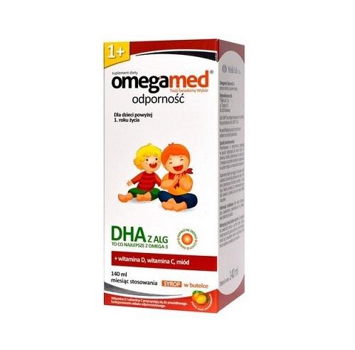 Omegamed Odporność 1+ Syrop 140 ml | Apteka internetowa, antyperspirant, avent, bioderma, bioliq, canpol, cera trądzikowa preparaty, dermokosmetyki, geriavit, grzybica leki bez recepty, himalaya, kreon, leki bez recepty, leki na grypę, leki na przeziębienie, leki na uspokojenie, mascara med., maxigra go, maxon, mensil, mugga, mustela, odchudzanie leki, odporność, pirolam, tabletki na ból gardła, test ciążowy, tran mollers, vichy, witamina d, wszy preparaty, zapalenie stawów, zestawy kosmetyków, ziaja