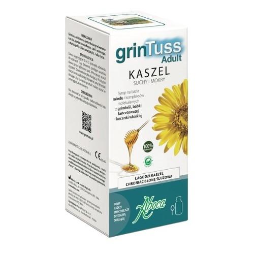 Grintuss Adult syrop 128 g | Apteka internetowa, antyperspirant, avent, bioderma, bioliq, canpol, cera trądzikowa preparaty, dermokosmetyki, geriavit, grzybica leki bez recepty, himalaya, kreon, leki bez recepty, leki na grypę, leki na przeziębienie, leki na uspokojenie, mascara med., maxigra go, maxon, mensil, mugga, mustela, odchudzanie leki, odporność, pirolam, tabletki na ból gardła, test ciążowy, tran mollers, vichy, witamina d, wszy preparaty, zapalenie stawów, zestawy kosmetyków, ziaja