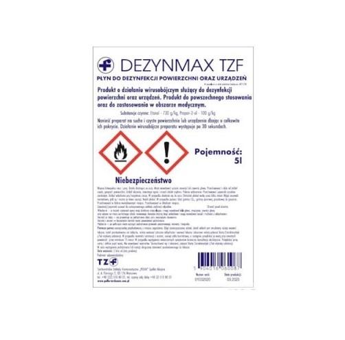 Dezynmax TZF płyn dezynf. 5 l | Apteka internetowa, antyperspirant, avent, bioderma, bioliq, canpol, cera trądzikowa preparaty, dermokosmetyki, geriavit, grzybica leki bez recepty, himalaya, kreon, leki bez recepty, leki na grypę, leki na przeziębienie, leki na uspokojenie, mascara med., maxigra go, maxon, mensil, mugga, mustela, odchudzanie leki, odporność, pirolam, tabletki na ból gardła, test ciążowy, tran mollers, vichy, witamina d, wszy preparaty, zapalenie stawów, zestawy kosmetyków, ziaja