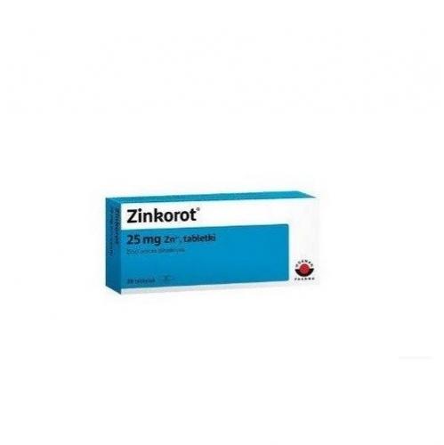 Zinkorot tabl. 0,025 g Zn2+ 20 tabl. | Apteka internetowa, antyperspirant, avent, bioderma, bioliq, canpol, cera trądzikowa preparaty, dermokosmetyki, geriavit, grzybica leki bez recepty, himalaya, kreon, leki bez recepty, leki na grypę, leki na przeziębienie, leki na uspokojenie, mascara med., maxigra go, maxon, mensil, mugga, mustela, odchudzanie leki, odporność, pirolam, tabletki na ból gardła, test ciążowy, tran mollers, vichy, witamina d, wszy preparaty, zapalenie stawów, zestawy kosmetyków, ziaja