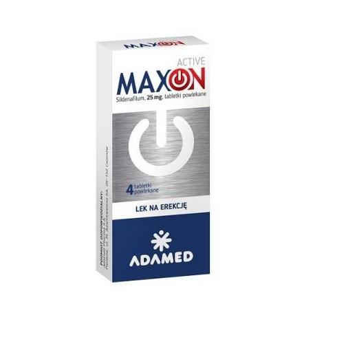 MAXON ACTIVE tabl.powl. 0,025 g 4 tabl. | Apteka internetowa, antyperspirant, avent, bioderma, bioliq, canpol, cera trądzikowa preparaty, dermokosmetyki, geriavit, grzybica leki bez recepty, himalaya, kreon, leki bez recepty, leki na grypę, leki na przeziębienie, leki na uspokojenie, mascara med., maxigra go, maxon, mensil, mugga, mustela, odchudzanie leki, odporność, pirolam, tabletki na ból gardła, test ciążowy, tran mollers, vichy, witamina d, wszy preparaty, zapalenie stawów, zestawy kosmetyków, ziaja