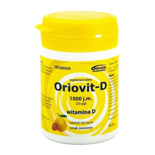 Oriovit-D 1000 j.m. (25mcg) tabl. 100tabl. | Apteka internetowa, antyperspirant, avent, bioderma, bioliq, canpol, cera trądzikowa preparaty, dermokosmetyki, geriavit, grzybica leki bez recepty, himalaya, kreon, leki bez recepty, leki na grypę, leki na przeziębienie, leki na uspokojenie, mascara med., maxigra go, maxon, mensil, mugga, mustela, odchudzanie leki, odporność, pirolam, tabletki na ból gardła, test ciążowy, tran mollers, vichy, witamina d, wszy preparaty, zapalenie stawów, zestawy kosmetyków, ziaja
