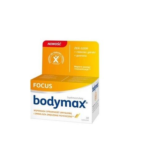 Bodymax Focus tabl. 30 tabl. | Apteka internetowa, antyperspirant, avent, bioderma, bioliq, canpol, cera trądzikowa preparaty, dermokosmetyki, geriavit, grzybica leki bez recepty, himalaya, kreon, leki bez recepty, leki na grypę, leki na przeziębienie, leki na uspokojenie, mascara med., maxigra go, maxon, mensil, mugga, mustela, odchudzanie leki, odporność, pirolam, tabletki na ból gardła, test ciążowy, tran mollers, vichy, witamina d, wszy preparaty, zapalenie stawów, zestawy kosmetyków, ziaja