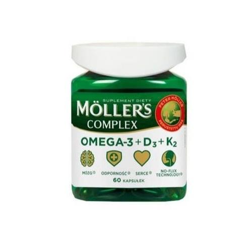 Mollers Complex kaps. 60 kaps. | Apteka internetowa, antyperspirant, avent, bioderma, bioliq, canpol, cera trądzikowa preparaty, dermokosmetyki, geriavit, grzybica leki bez recepty, himalaya, kreon, leki bez recepty, leki na grypę, leki na przeziębienie, leki na uspokojenie, mascara med., maxigra go, maxon, mensil, mugga, mustela, odchudzanie leki, odporność, pirolam, tabletki na ból gardła, test ciążowy, tran mollers, vichy, witamina d, wszy preparaty, zapalenie stawów, zestawy kosmetyków, ziaja