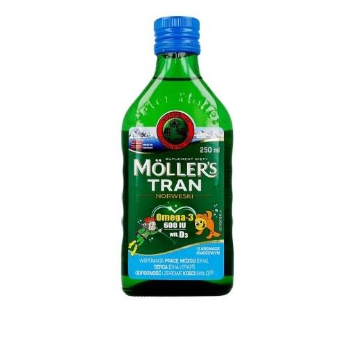 Tran Moller's Norweski owocowy płyn 250 ml | Apteka internetowa, antyperspirant, avent, bioderma, bioliq, canpol, cera trądzikowa preparaty, dermokosmetyki, geriavit, grzybica leki bez recepty, himalaya, kreon, leki bez recepty, leki na grypę, leki na przeziębienie, leki na uspokojenie, mascara med., maxigra go, maxon, mensil, mugga, mustela, odchudzanie leki, odporność, pirolam, tabletki na ból gardła, test ciążowy, tran mollers, vichy, witamina d, wszy preparaty, zapalenie stawów, zestawy kosmetyków, ziaja